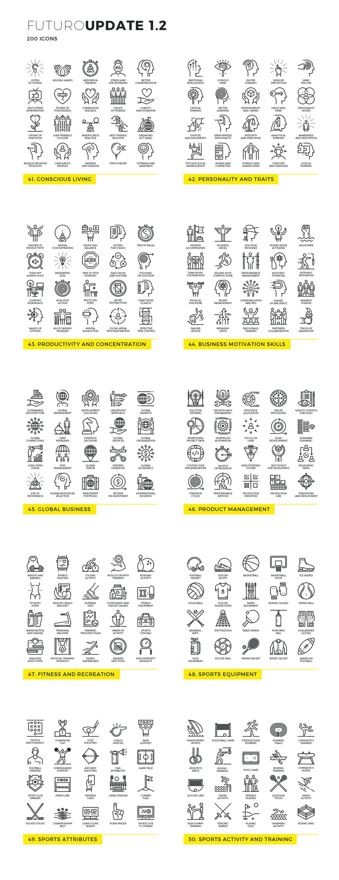 Futuro line icons - Update 2