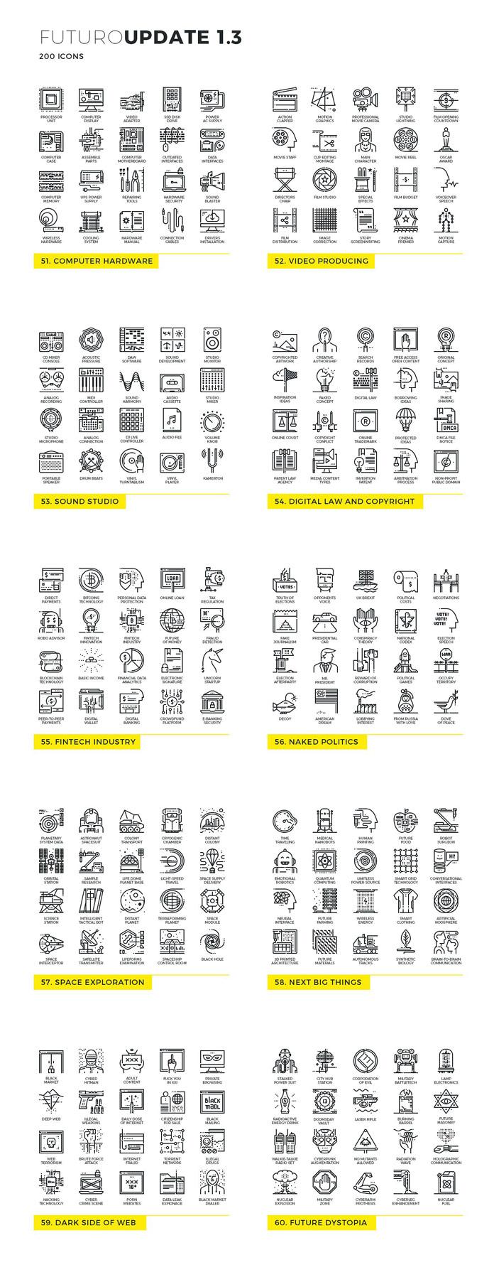 Futuro line icons - Update 3