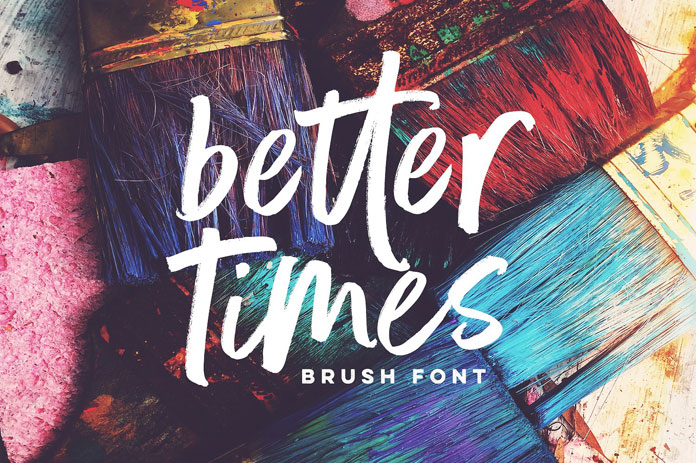Better Times brush font by Sam Parrett.