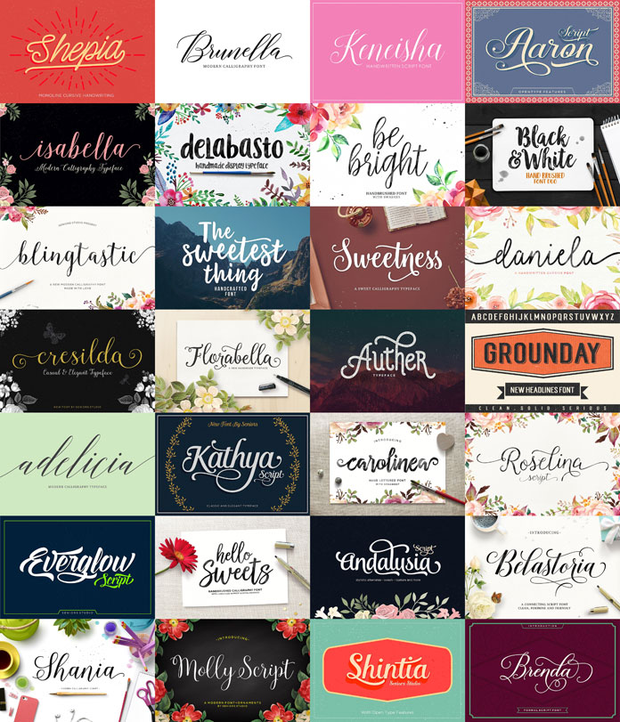 Huge font bundle from Seniors Studio.