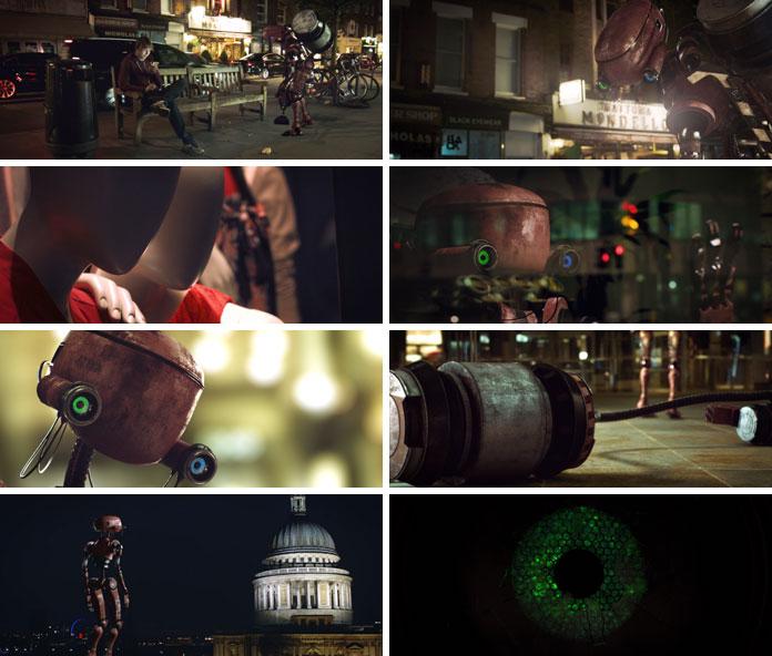 Some stills of the short film Tergo.