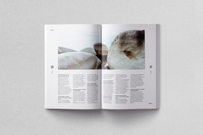 Moscovita magazine template, only free fonts have been used.