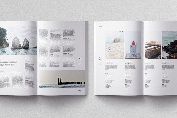 Adobe InDesign template, character styles and paragraph styles.