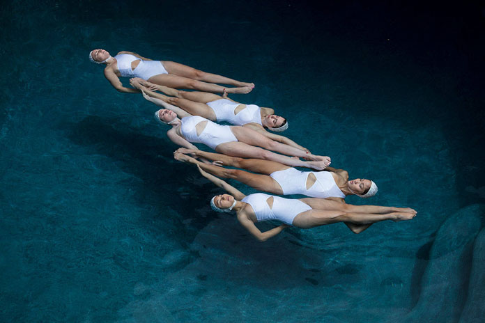 The Swimmers by Emma Hartvig, weightless floating.