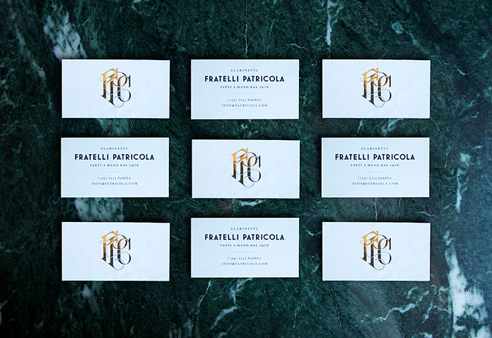 Andrew Colin Beck design, business cards.