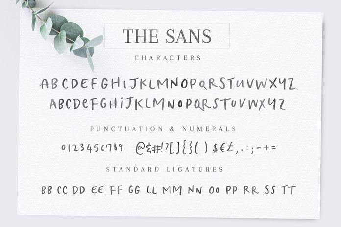 The sans.