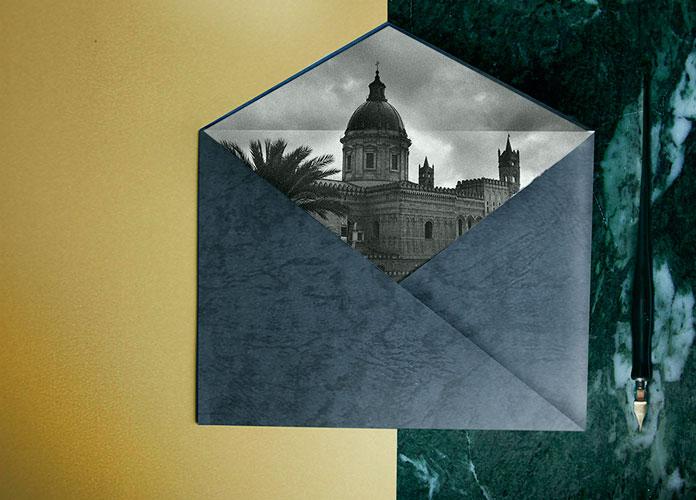 Andrew Colin Beck design, envelope.