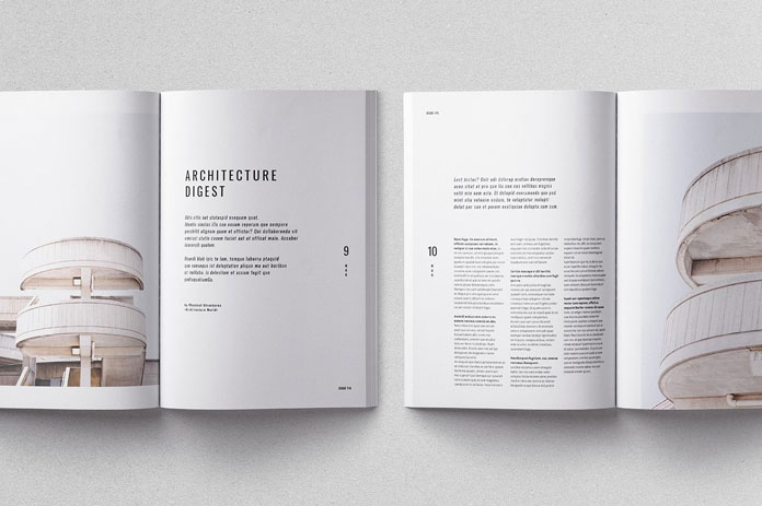Moscovita magazine template, print ready, CMYK, 300 dpi, bleed.