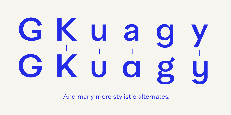 Quarion fonts, Many more stylistic alternates
