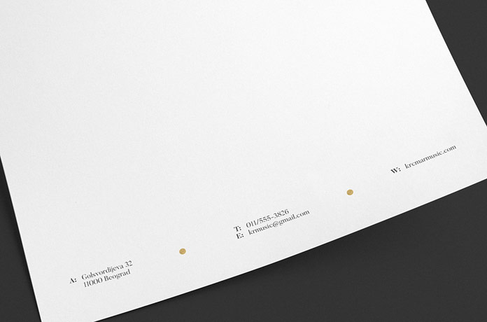 Stationery footer
