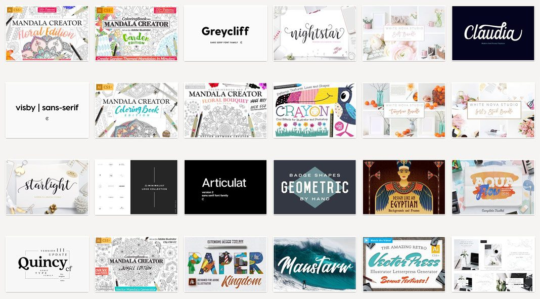 87 amazing graphic products 97 % off.