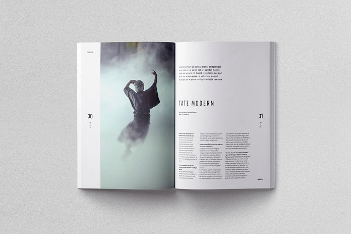 Moscovita brochure template, modern and clean layout.
