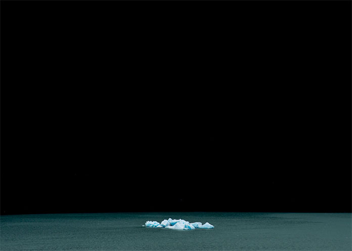 A floating iceberg.