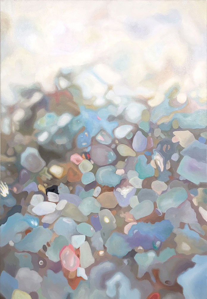Amelia Carley, Soft Getaway (sand study) - oil on canvas, 23 x 16, 2016
