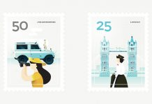 City stamps by Elen Winata