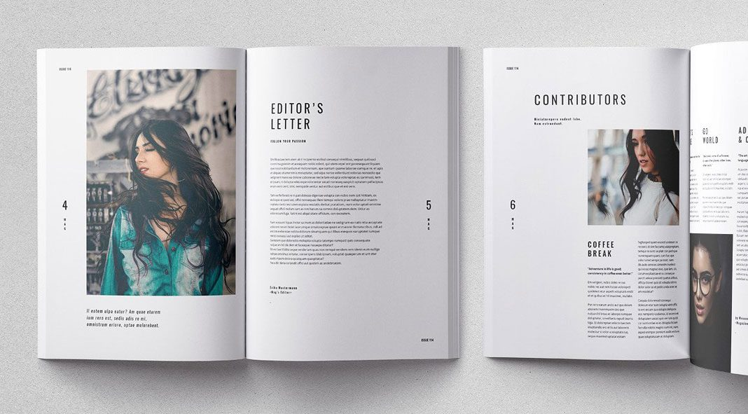 Cult adobe indesign magazine template for Adobe indesign templates free