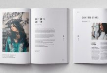 Cult magazine template for Adobe InDesign.