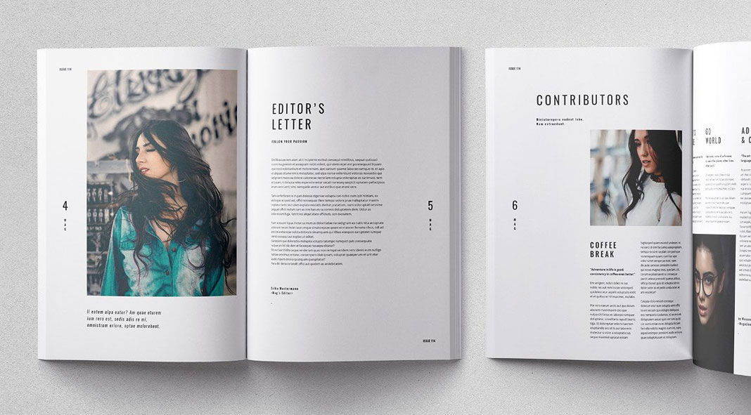 Cult adobe indesign magazine template for Indesign templates for books