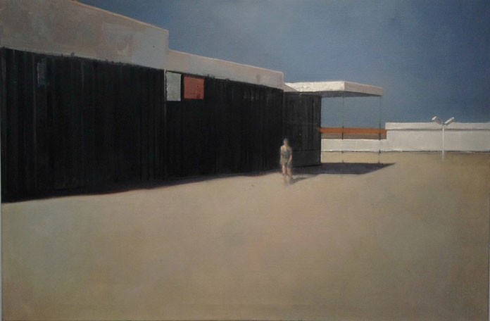 Elisabeth McBrien, Abandoned Lot, oil on canvas, 24 x 36, 2014
