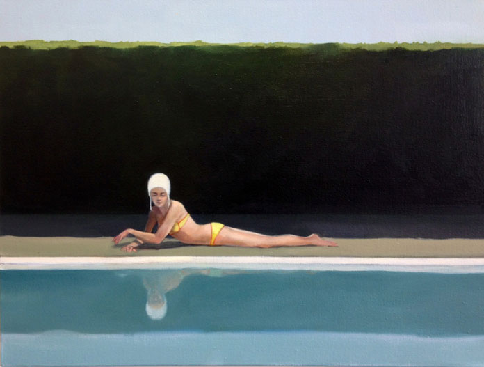 Elisabeth McBrien, By the Pool, oil on canvas, 18 x 24, 2014