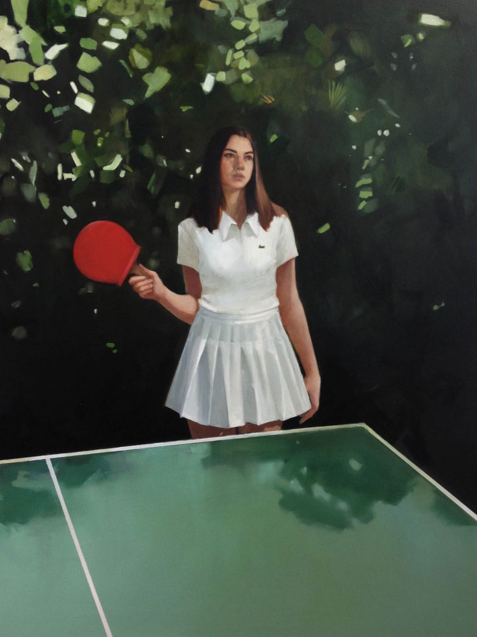 Elisabeth McBrien, Ping-Pong, oil on canvas, 36.5 x 29, 2015