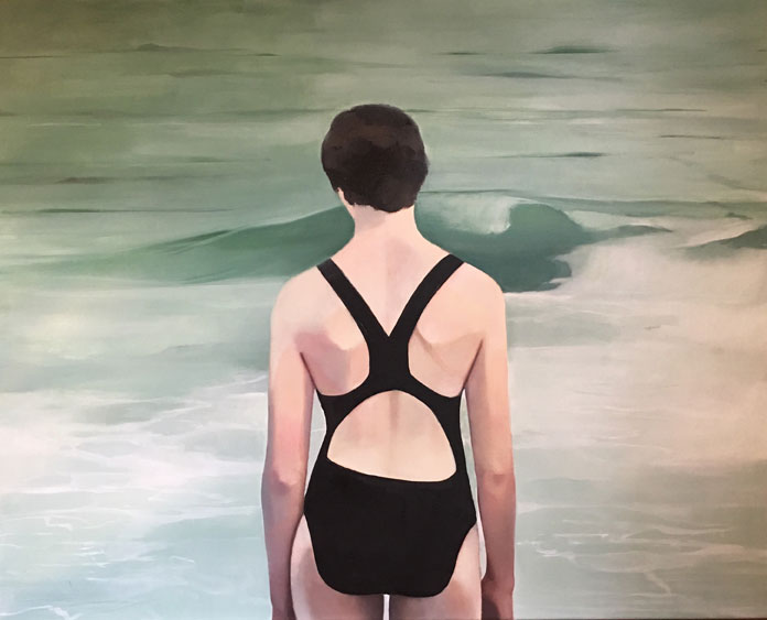Elisabeth McBrien, The Swimmer, oil on canvas, 24 x 30, 2017