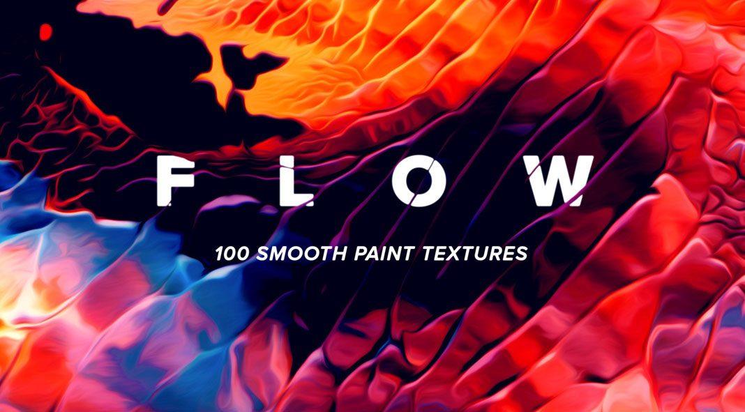Flow: 100 fluid paint textures in striking colors.