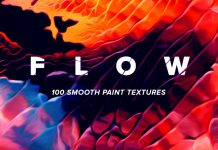 Flow: 100 fluid paint textures in striking colors.