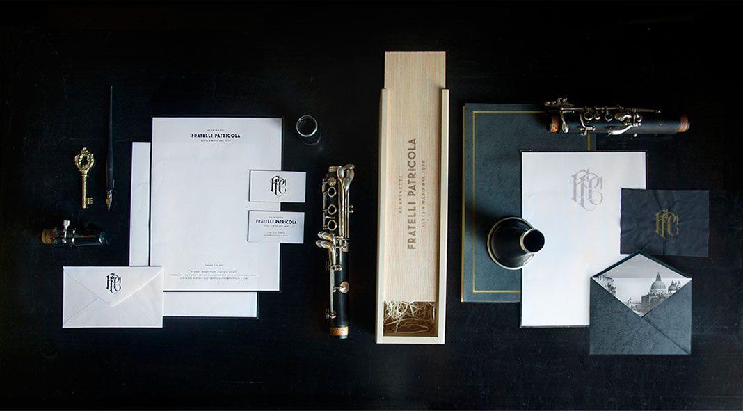 Fratelli Patricola - Italian clarinets rebrand design by Andrew Colin Beck.