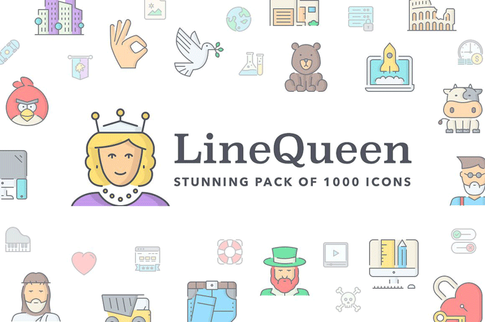 Line Queen, a stunning pack of 1000 icons.