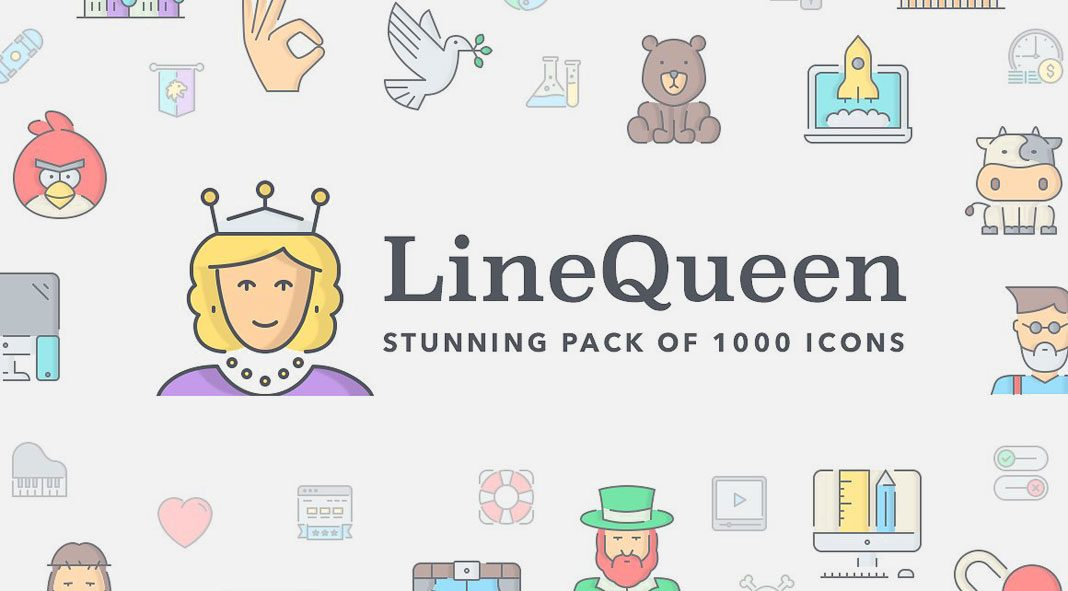 Line Queen icons.