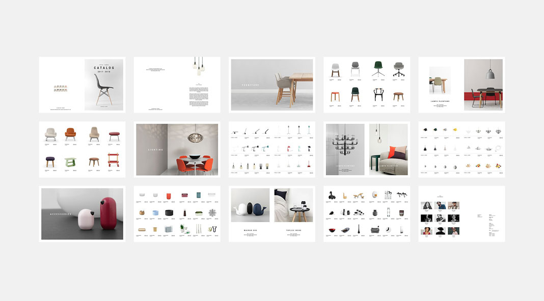 Product catalog template from silukeight Design house catalog