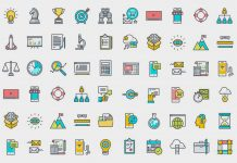 Thin Line Icons for Business and Marketing