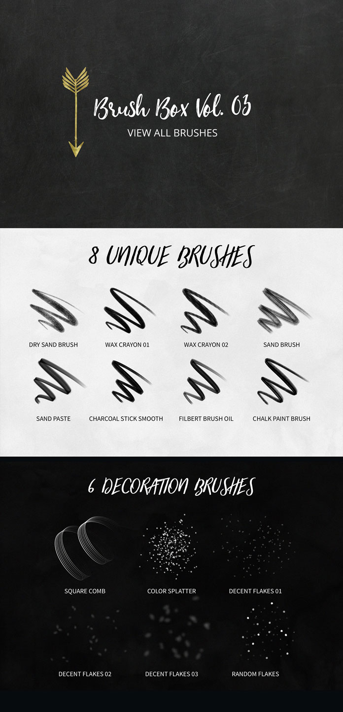 Vol. 03 unique and decorative brushes