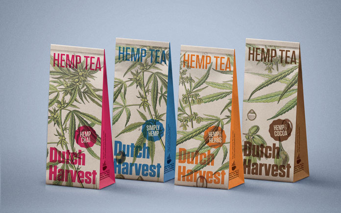 Dutch Harvest Hemp Tea - design by Tenzing Brand Sherpa.