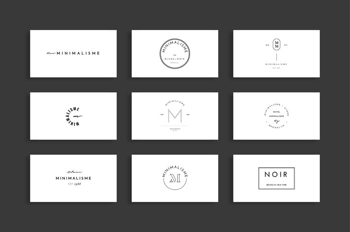 Modern and minimalist logo templates.