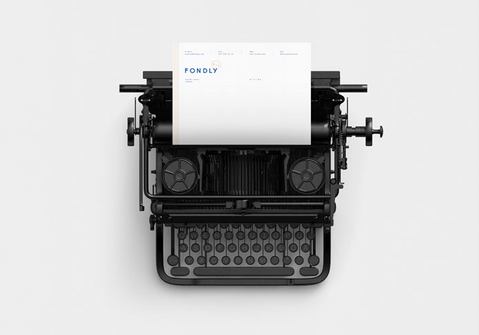The typography is inspired by typing a letter.