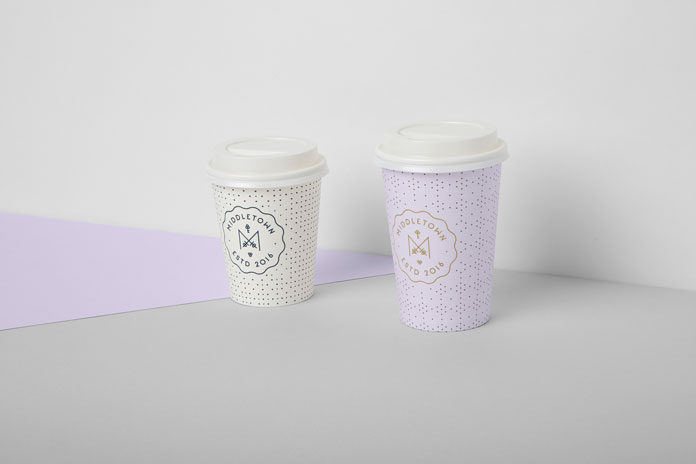 Paper cups.