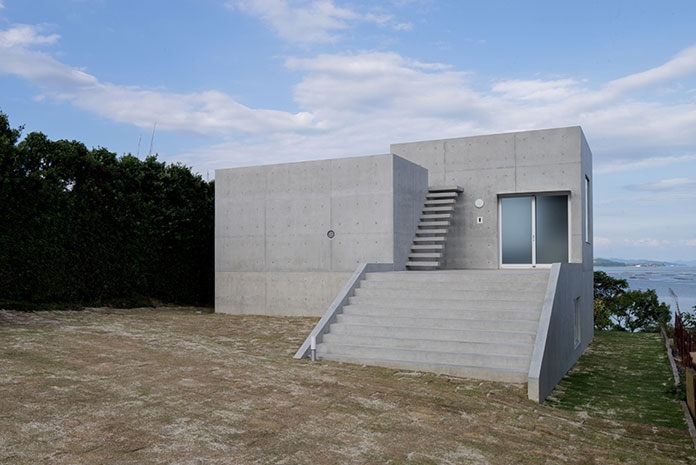 The house is located on a peninsula of Hiroshima, Japan.