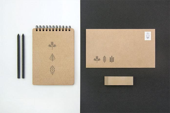 Cardboard branding materials.
