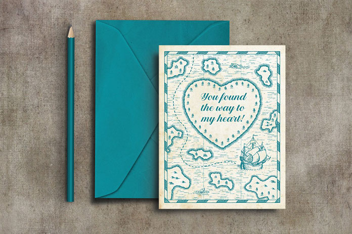 Example of use: lovely designed invitations and greeting cards.