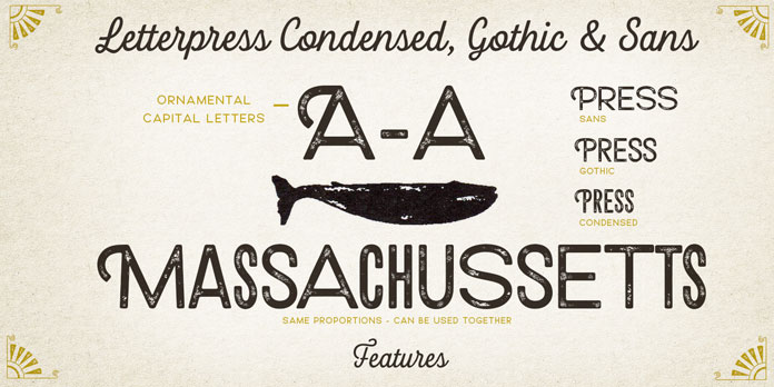 Some of the typographic features.