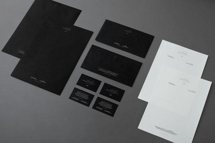 Stationery and printed collateral.