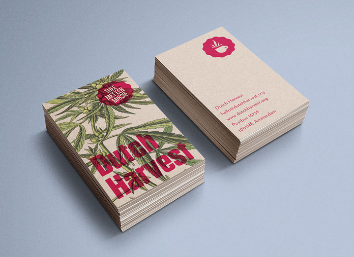 Dutch Harvest Hemp Tea, Business cards.