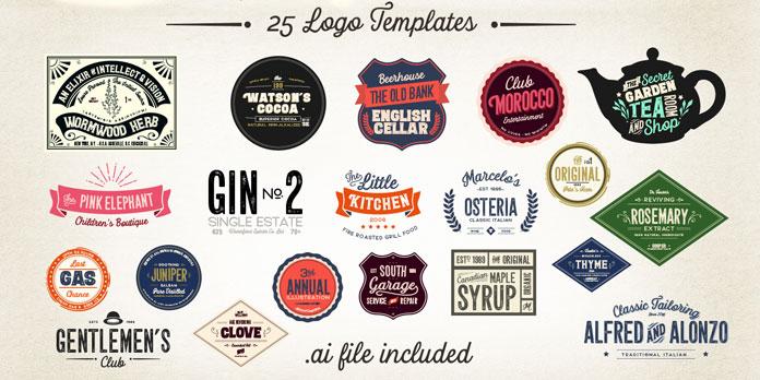 25 logo templates.
