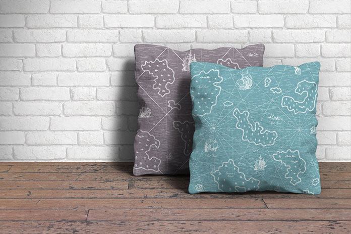 Example of use: illustrated pillows.