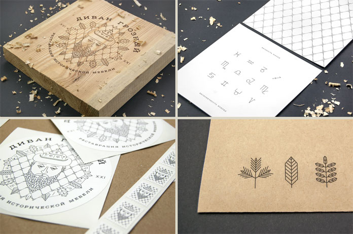 Illustrations, patterns and wood-based branding materials.