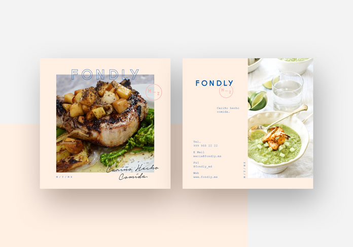 Appetizing images and a clean layout.