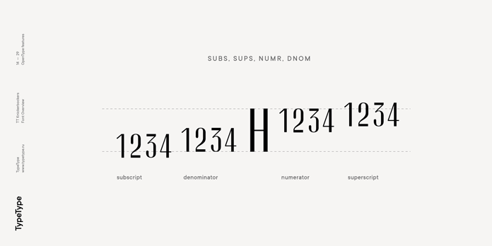 Subscript, denominator, numerator, superscript.