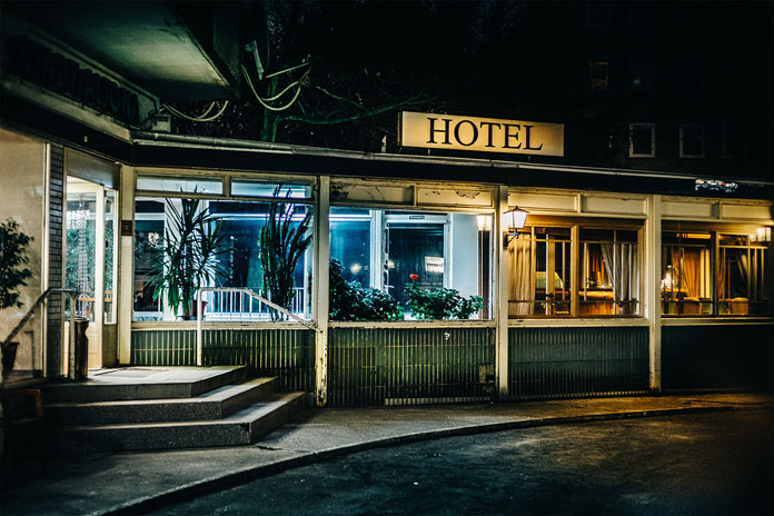 After hours in Hamburg by Mark Broyer, An old hotel